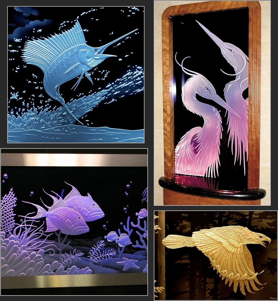 Custom Carved Glass