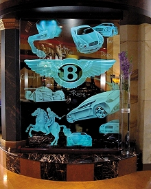 Carved Glass Bentley