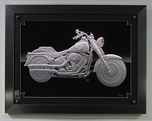Carved Glass Harley