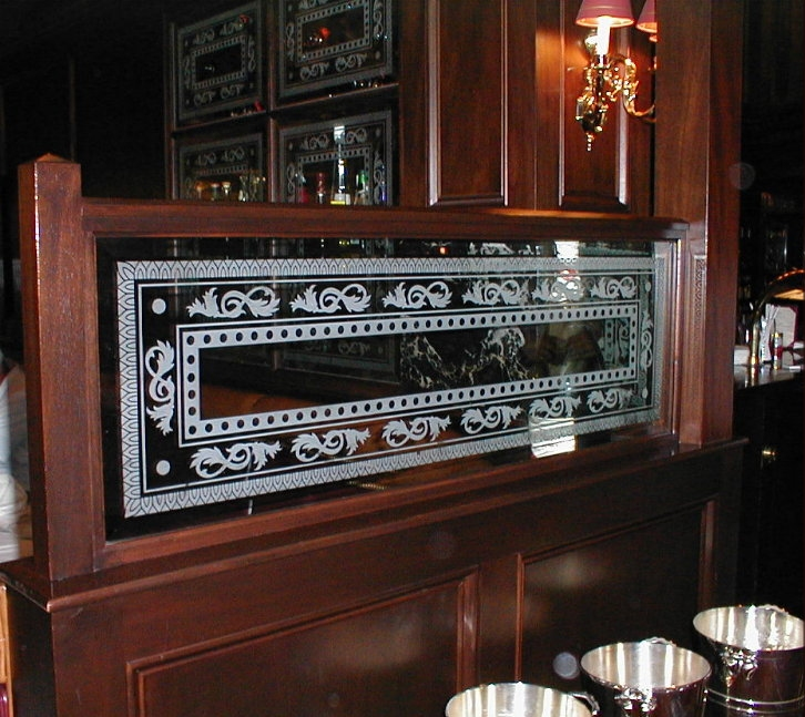 Etched Carved Glass Restaurant