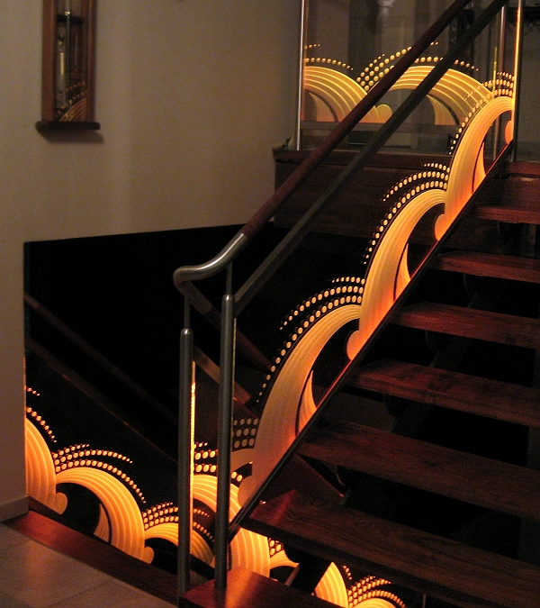 Carved Glass Staircase
