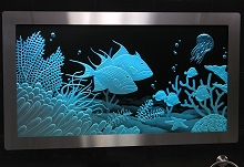 Illuminated Carved Glass Underwater