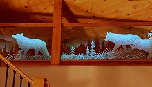 Carved Glass Wolves